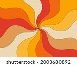 retro background of the 70s.... | Shutterstock .eps vector #2003680892