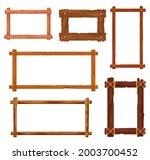 cartoon wooden frames and...