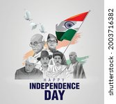 happy independence day india... | Shutterstock .eps vector #2003716382