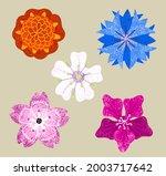 a set of stylized unusual... | Shutterstock .eps vector #2003717642