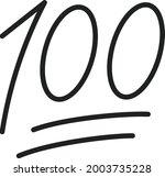 hundred points icon vector... | Shutterstock .eps vector #2003735228