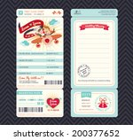 cartoon boarding pass ticket... | Shutterstock .eps vector #200377652