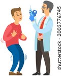 doctor making treatment with... | Shutterstock .eps vector #2003776745