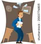 man suffering from phobia of... | Shutterstock .eps vector #2003776805