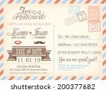 vintage airmail postcard... | Shutterstock .eps vector #200377682