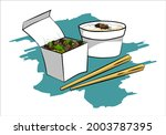 crickets insects for eating as... | Shutterstock .eps vector #2003787395