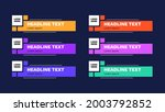 news lower thirds pack. sign of ... | Shutterstock .eps vector #2003792852