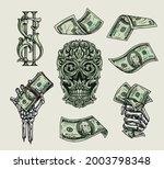money elements colorful vintage ... | Shutterstock .eps vector #2003798348