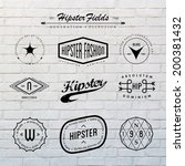 Hipster Labels Template Set...