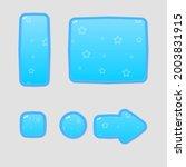 game ui buttons set blue sky...
