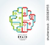 Stock vector left and right brain function vector illustration 200383955
