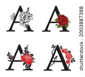 collection of letters a with... | Shutterstock .eps vector #2003887388