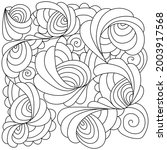 abstract contour coloring page... | Shutterstock .eps vector #2003917568