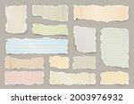 ripped colorful paper strips....   Shutterstock .eps vector #2003976932