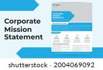 single page corporate mission...   Shutterstock .eps vector #2004069092