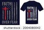 Faith Over Fear Usa Grunge Flag ...