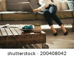 closeup on coffee table and... | Shutterstock . vector #200408042