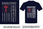amazing grace usa grunge flag... | Shutterstock .eps vector #2004080495
