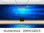 wooden table and breaking news... | Shutterstock .eps vector #2004116015