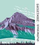 wpa poster art of hidden lake... | Shutterstock .eps vector #2004135395