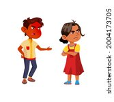 boy scolding injured girl with...   Shutterstock .eps vector #2004173705