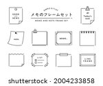 a simple set of memo frames.... | Shutterstock .eps vector #2004233858