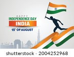 15th august happy independence... | Shutterstock .eps vector #2004252968