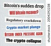 crypto investing news headlines.... | Shutterstock .eps vector #2004292238