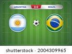 argentina vs brazil scoreboard... | Shutterstock .eps vector #2004309965
