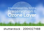 world ozone day is observed... | Shutterstock .eps vector #2004327488