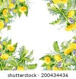 colorful floral dandelion... | Shutterstock .eps vector #200434436