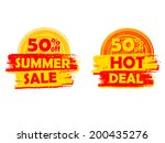 50 percentages off summer sale... | Shutterstock .eps vector #200435276