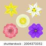 a set of stylized unusual... | Shutterstock .eps vector #2004373352
