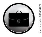 briefcase icon   vector round... | Shutterstock .eps vector #200438222