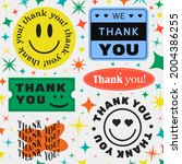 set of thank you cool trendy... | Shutterstock .eps vector #2004386255