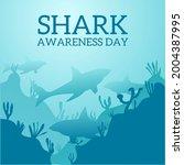 illustration of a shark under...   Shutterstock .eps vector #2004387995