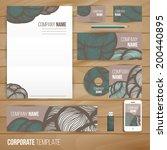 corporate identity business set ...   Shutterstock .eps vector #200440895