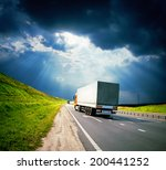 trucks under colorful sky | Shutterstock . vector #200441252