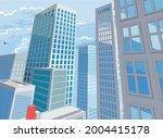 a city buildings cartoon comic...   Shutterstock .eps vector #2004415178