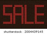 red sale led text on the... | Shutterstock .eps vector #2004439145