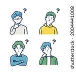 people avatar.thinking human... | Shutterstock .eps vector #2004441008