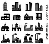 set of various buildings | Shutterstock . vector #200445266