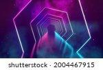 room with neon lights.... | Shutterstock . vector #2004467915