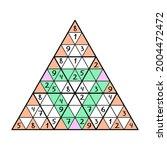 unusual sudoku pyramid game... | Shutterstock .eps vector #2004472472