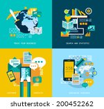 flat style ui icons to use for... | Shutterstock .eps vector #200452262