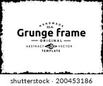 abstract grunge frame. vector... | Shutterstock .eps vector #200453186