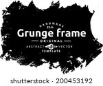 abstract grunge frame. vector... | Shutterstock .eps vector #200453192