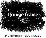 abstract grunge frame. vector...   Shutterstock .eps vector #200453216