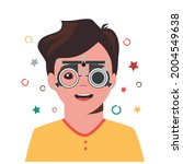 children vision checkup in... | Shutterstock .eps vector #2004549638