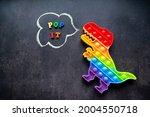 Pop It Dinosaur Toy Rainbow...